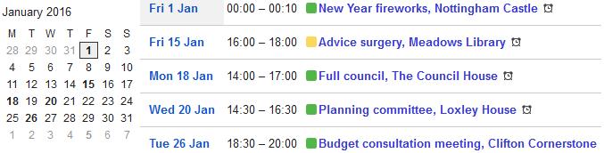 20160101 calendar January 2016 a0172h