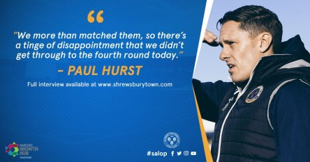 Salop vs West Ham United Paul Hurst DS89r5wWkAEIPr2
